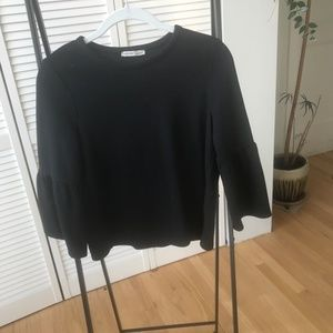 Zara Capped Sleeve Top